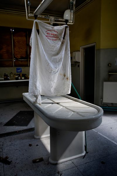 Photo of the abandoned West Middlesex Hospital in Isleworth, Middlesex England