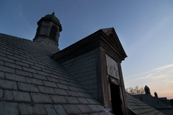 Photo of the abandoned Foxboro State Hospital in Foxboro, MA