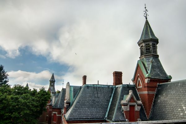 Photo of the abandoned Danvers State Hospital in Danvers, MA