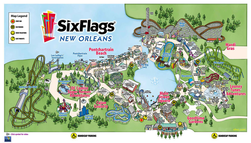 Six Flags New Orleans An Abandoned Amusement Park In New Orleans LA
