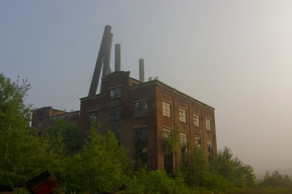 Photo of the abandoned Coal Brook Breaker Power Station in Carbondale, PA