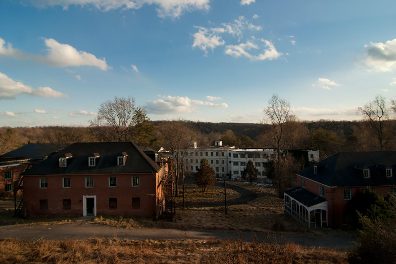 Photo of the abandoned Henryton State Hospital in Marriottsville, MD