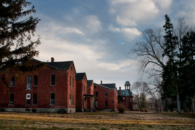 Photo of the abandoned Mentha State Hospital an undisclosed place in United States of America