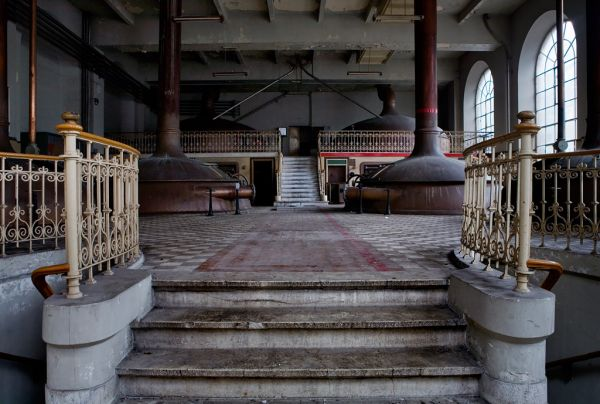 Photo of the abandoned Stella Artois Brewery in Leuven, Flemish Brabant Belgium