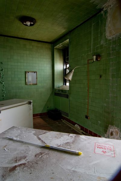 Photo of the abandoned County Morgue an undisclosed place in United States of America