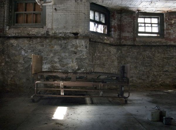 Elegant Bed Frame In Basement Photo Of The Abandoned Pennhurst State School