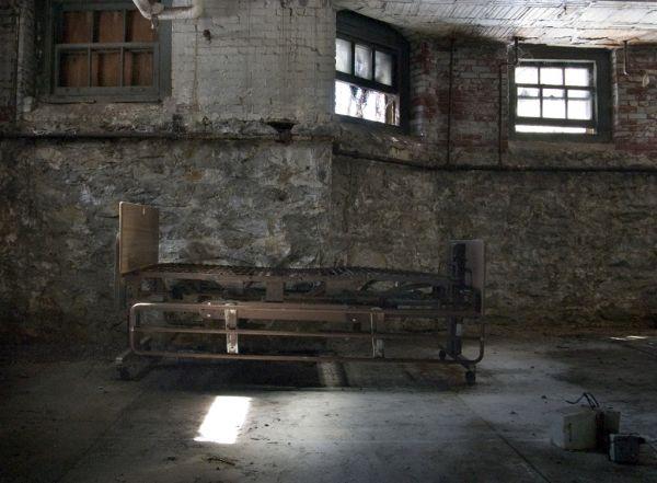 Bed Frame In Basement Photo Of The Abandoned Pennhurst