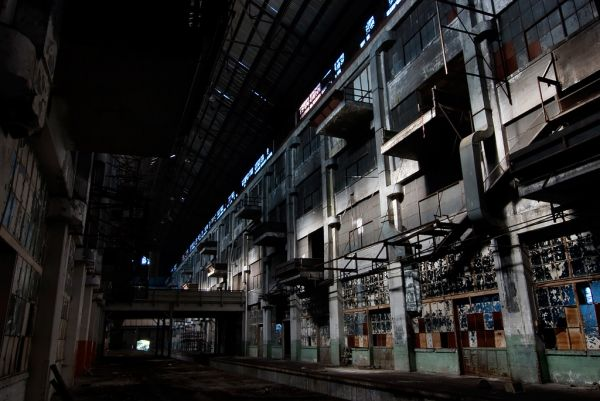 Photo of the abandoned Studebaker Stamping Plant in South Bend, IN