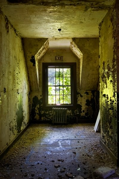 Photo of the abandoned Heptner State Hospital an undisclosed place in United States of America