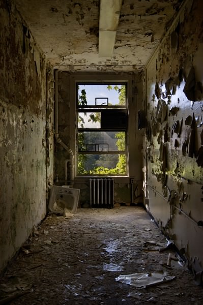 Photo of the abandoned Massachusetts Mental Health Center in Boston, MA