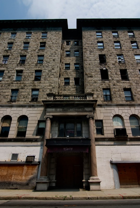Photo of the abandoned Hotel Sterling in Wilkes-Barre, PA