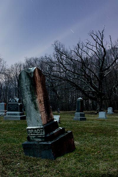 Glenwood Cemetery NY full moon Bradt
