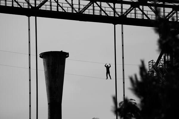 Landschaftspark Duisburg-Nord wire rope