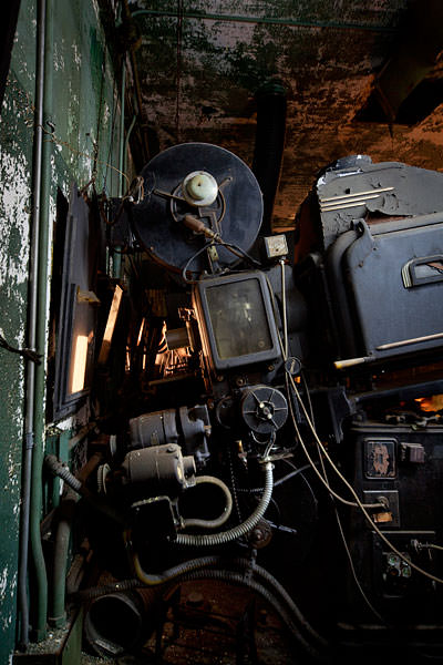 abandoned theater projectors